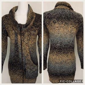 Modcloth iiSisters Wool blend Zip cowlneck Sweater
